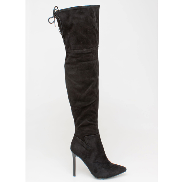 Lupa over the knee boot μαύρο