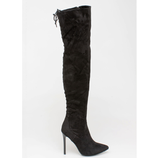 Malika over the knee boot μαύρο