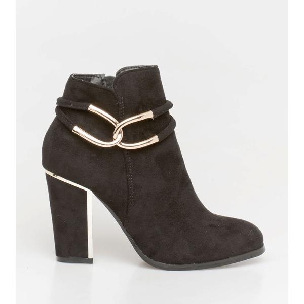 Noni chain boot μαύρο