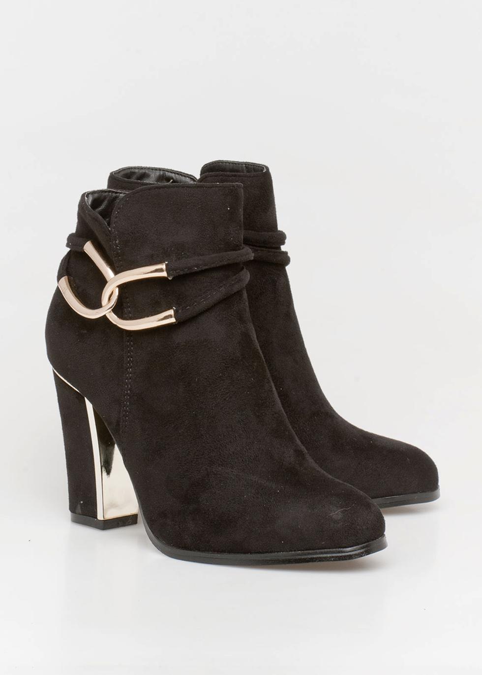 Noni chain boot, μαύρο