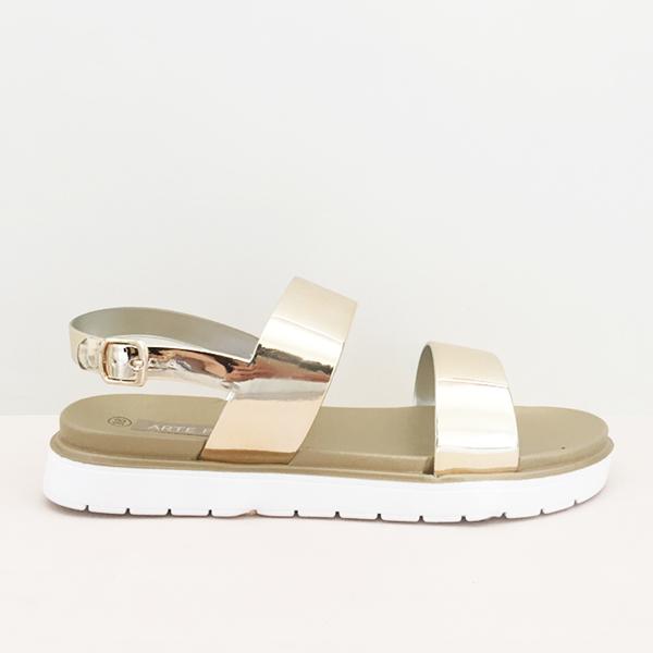 Jessy metallic sandals, χρυσό πέδιλα