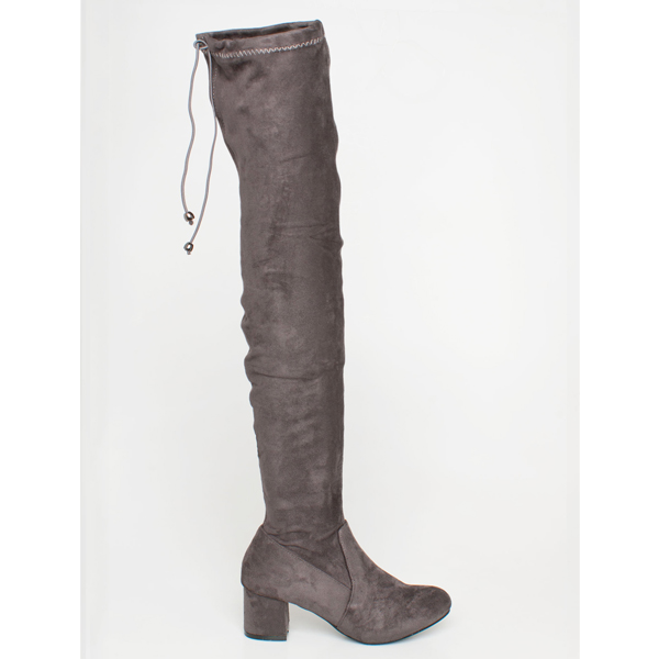 Brigit over the knee boot γκρι