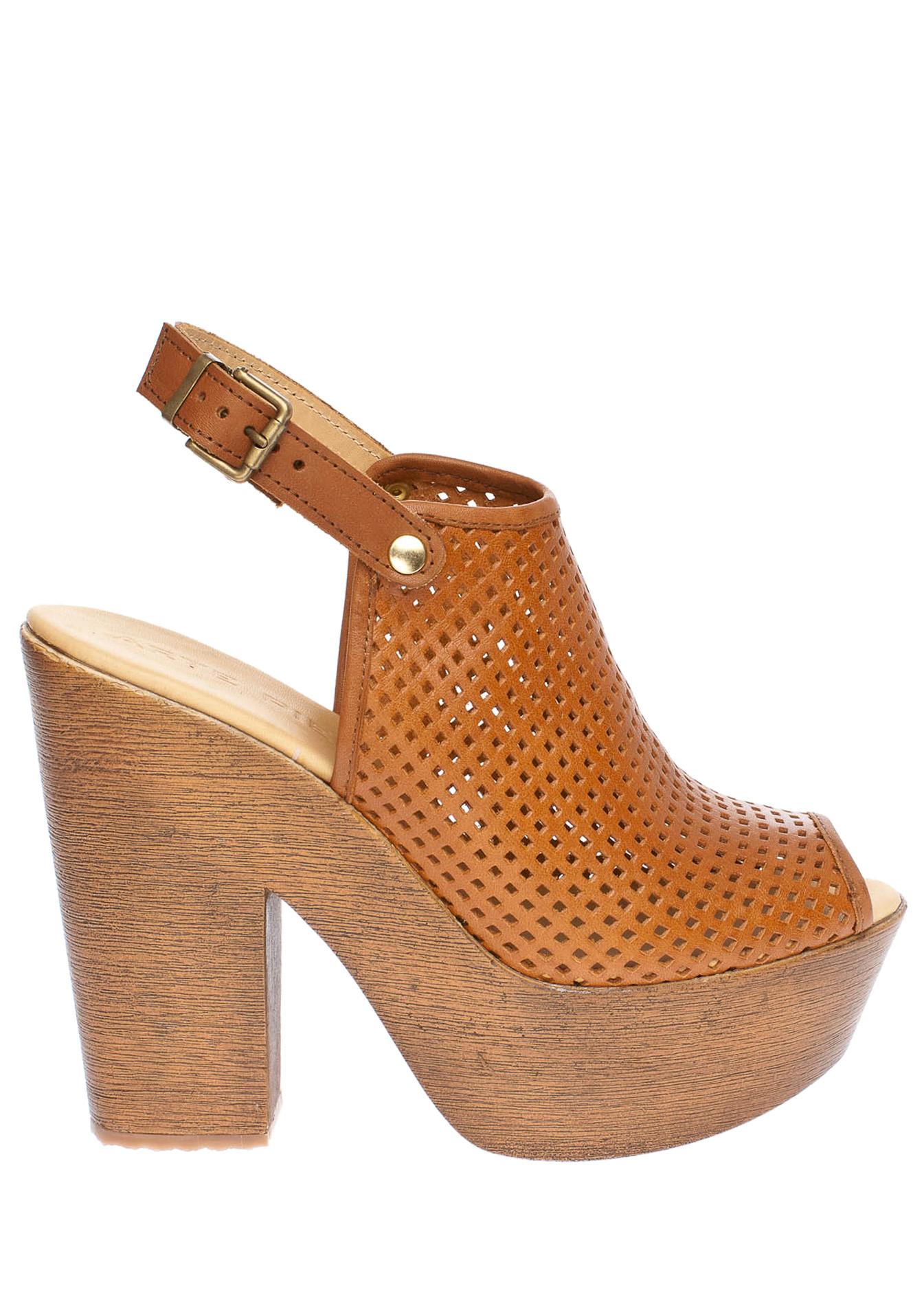 Erin δερμάτινη πλατφόρμα, ταμπά παπούτσια