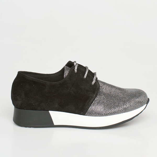 Drew suede - leather sneaker, ασημί sneaker   loafers