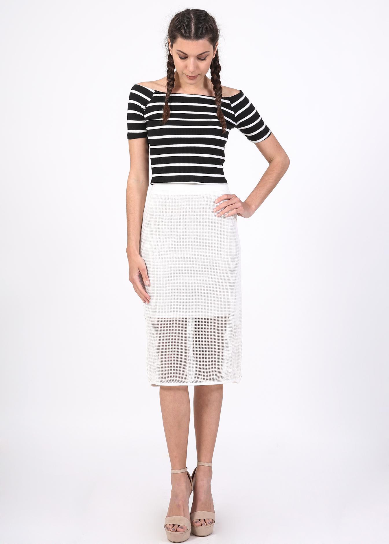 Kacper midi φούστα, λευκό ρούχα