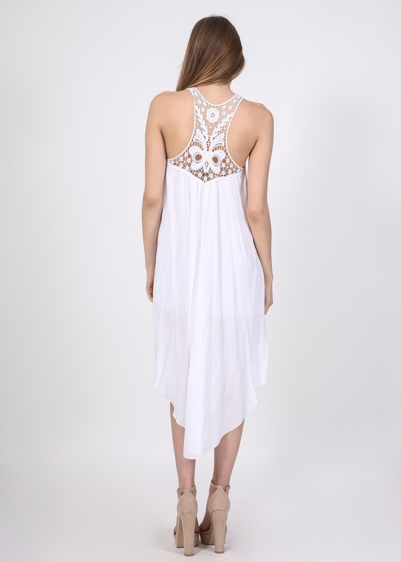 Arizona ασύμμετρο φόρεμα, λευκό ρούχα