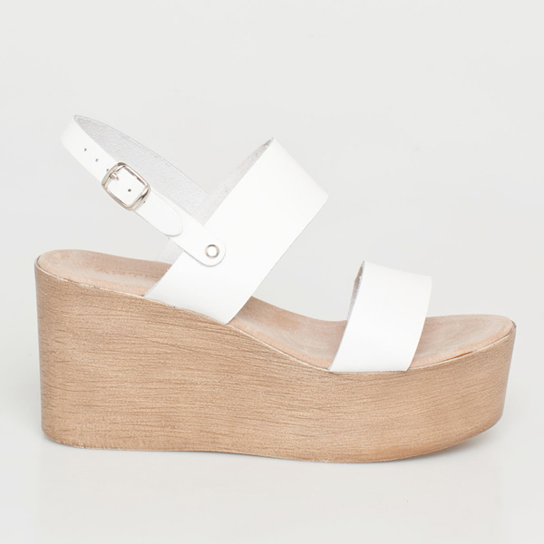 Sade δερμάτινη flatform λευκό