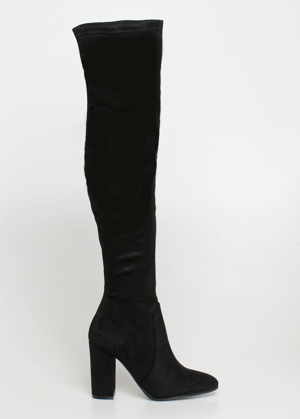 BeBe over the knee boot μαύρο