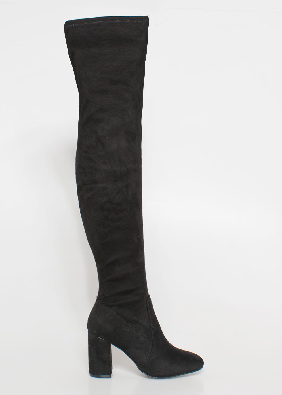 Yara over the knee boot μαύρο