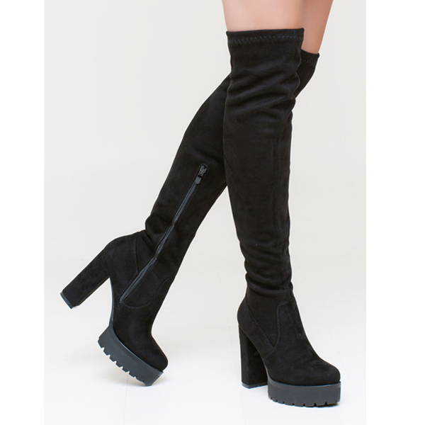 Lydia over the knee boot μαύρο