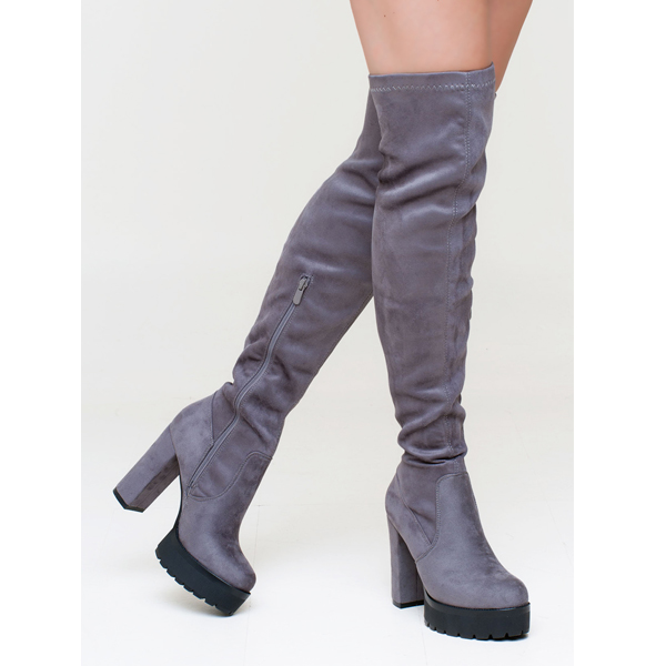 Lydia over the knee boot γκρι