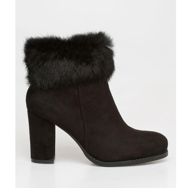 Dakota fur boot μαύρο