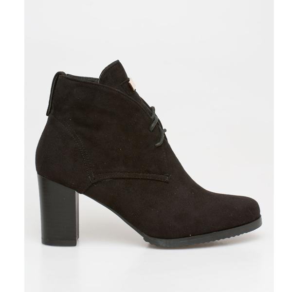 Valery block heel boot μαύρο