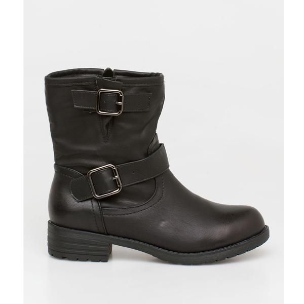 Sophie flat boot μαύρο