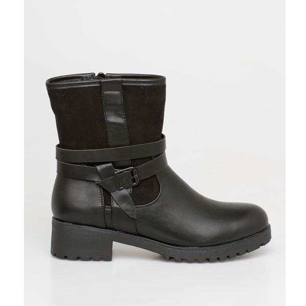 Babylon suede boot μαύρο