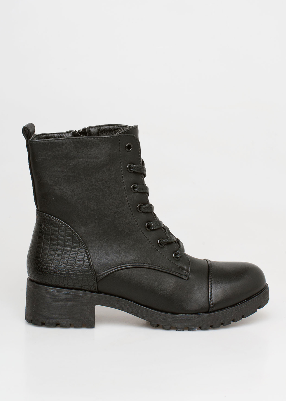 Carla lace boot, μαύρο μποτάκια