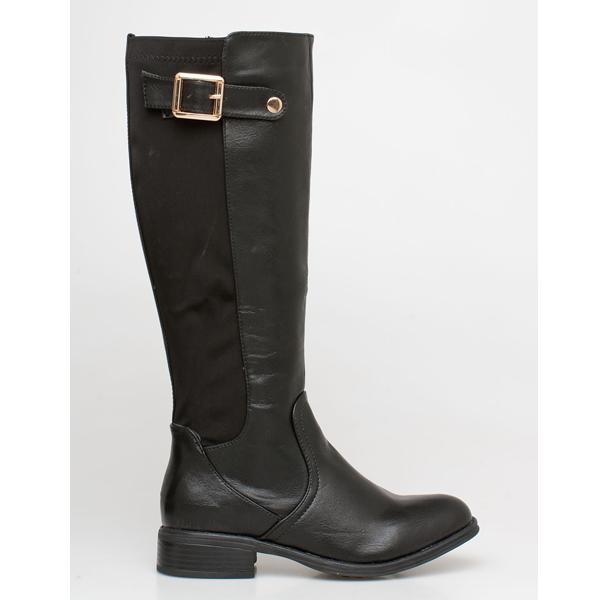Hazel flat boot μαύρο