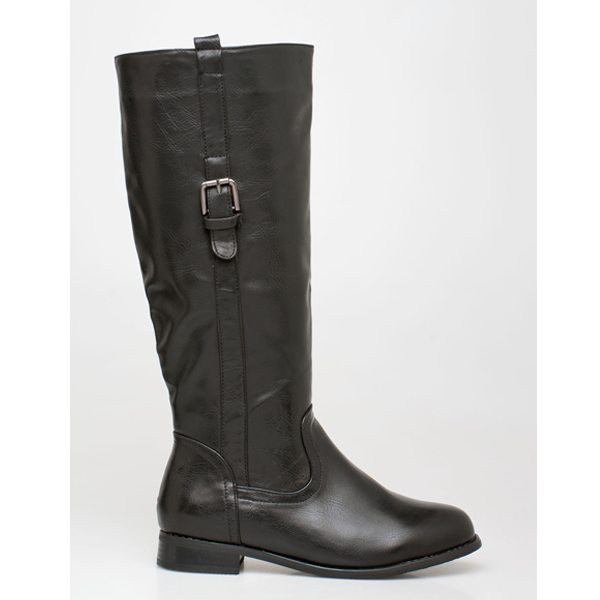 Bess leather like boot μαύρο