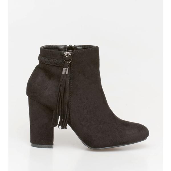 Casy braid boot μαύρο