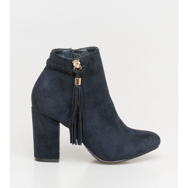 Casy braid boot μπλε