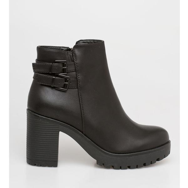 Adele block heel boot μαύρο
