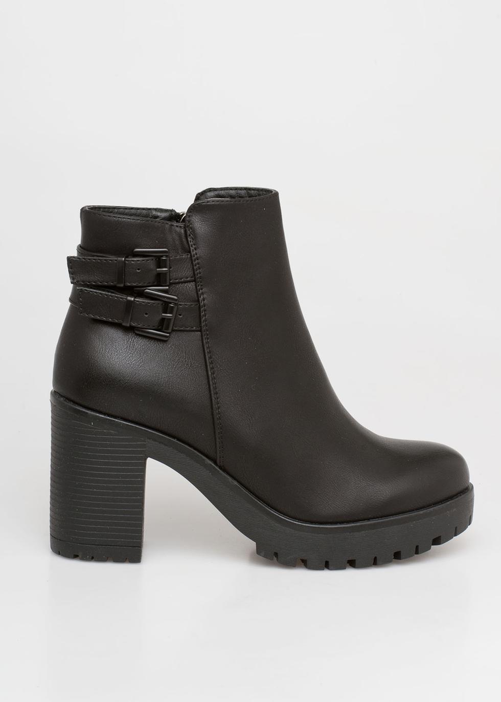 Adele block heel boot, μαύρο μποτάκια