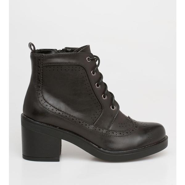April lace boot μαύρο
