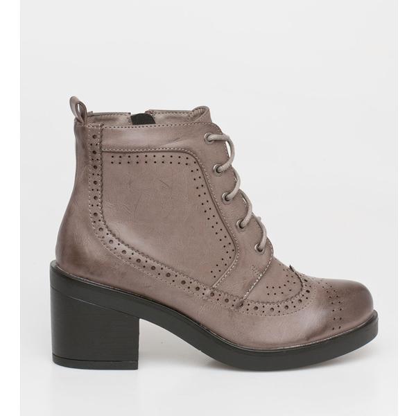 April lace boot γκρι