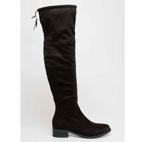 Dolce over the knee boot μαύρο