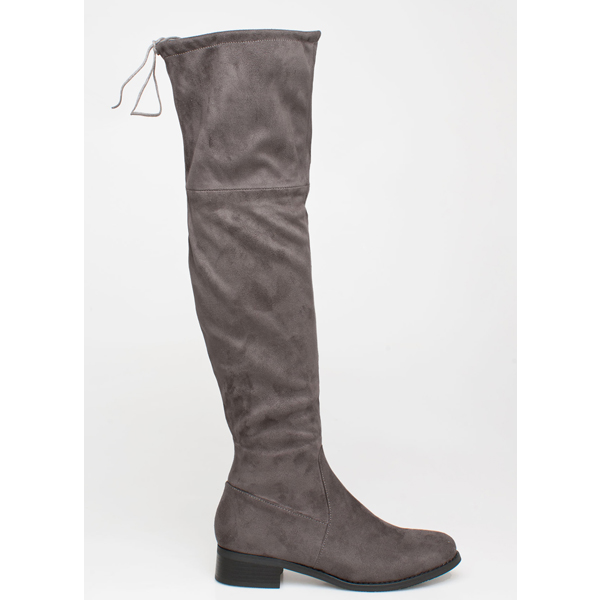Dolce over the knee boot γκρι
