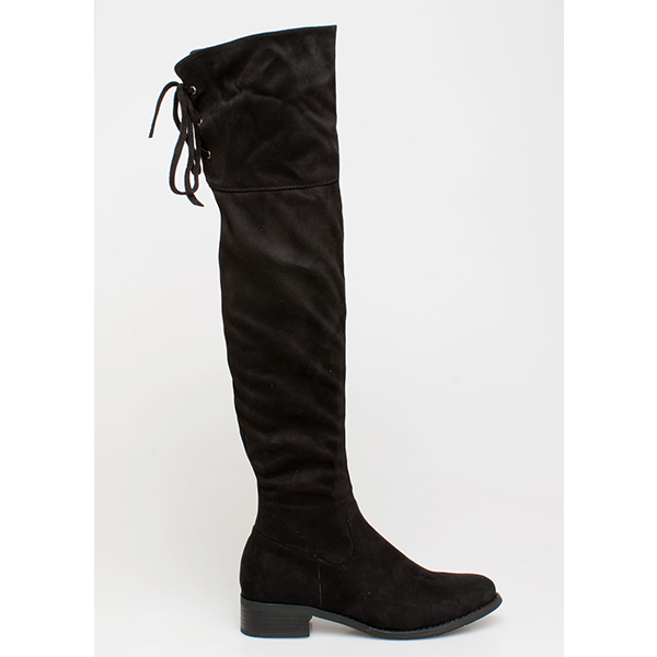 Gaily over the knee boot μαύρο