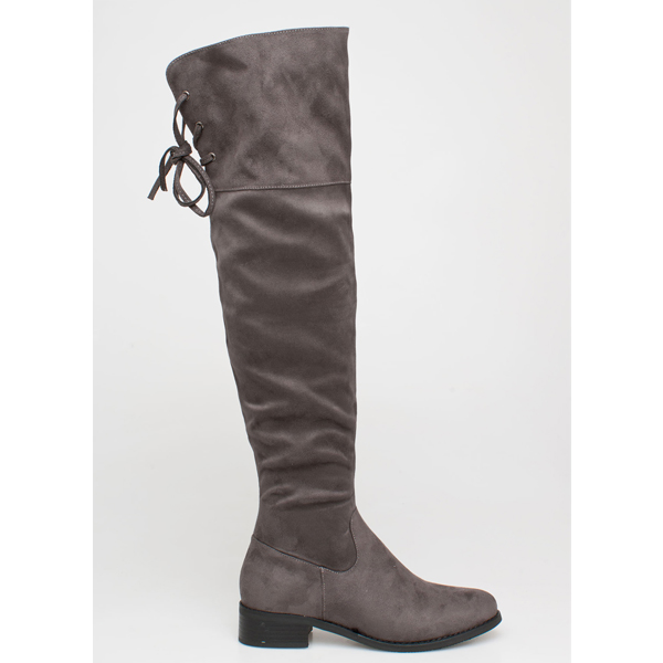 Gaily over the knee boot γκρι