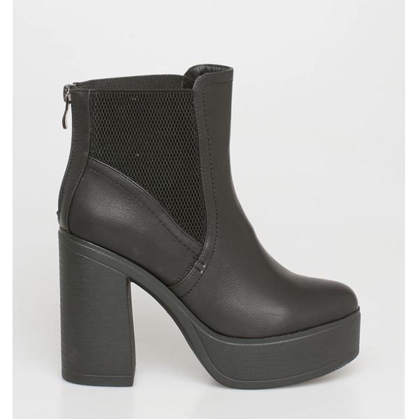 Sasa block heel boot μαύρο