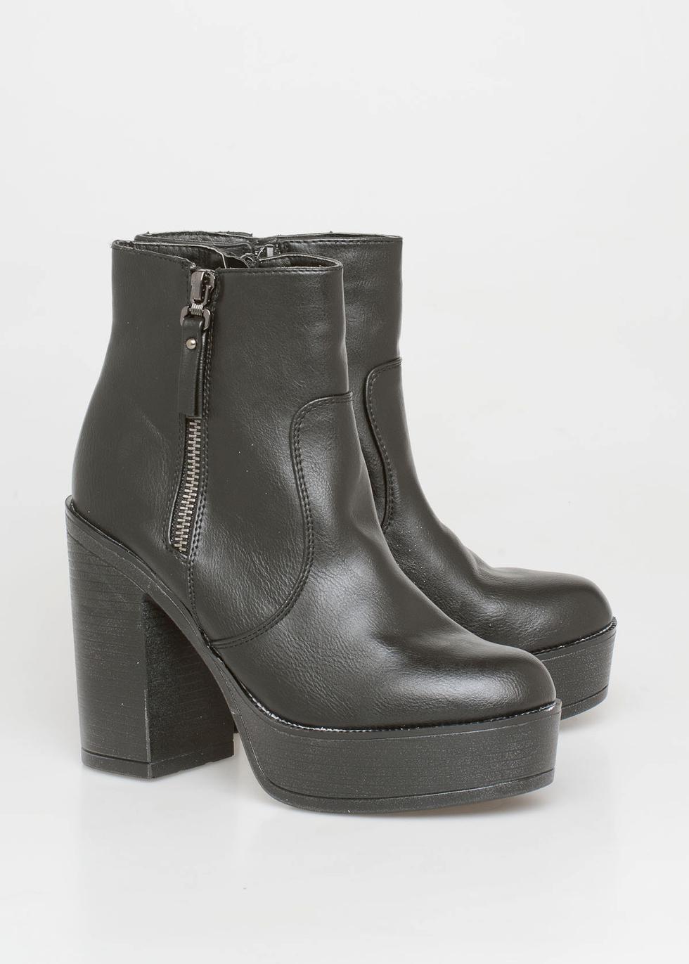 Mindy block heel boot, μαύρο