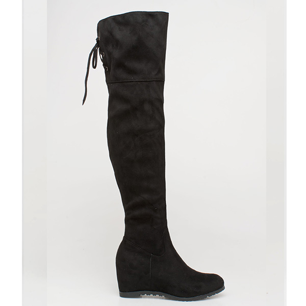 Kami over the knee boot μαύρο