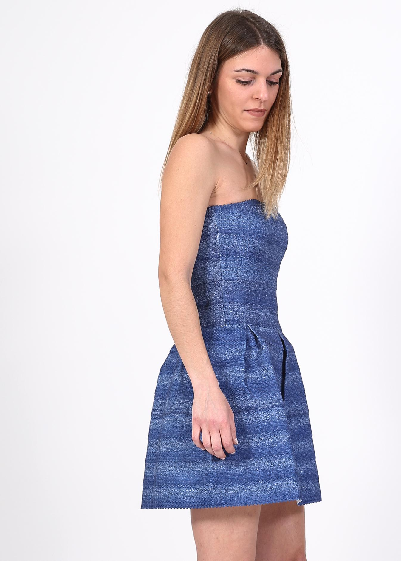 Harlow strapless denim φόρεμα, μπλε ρούχα