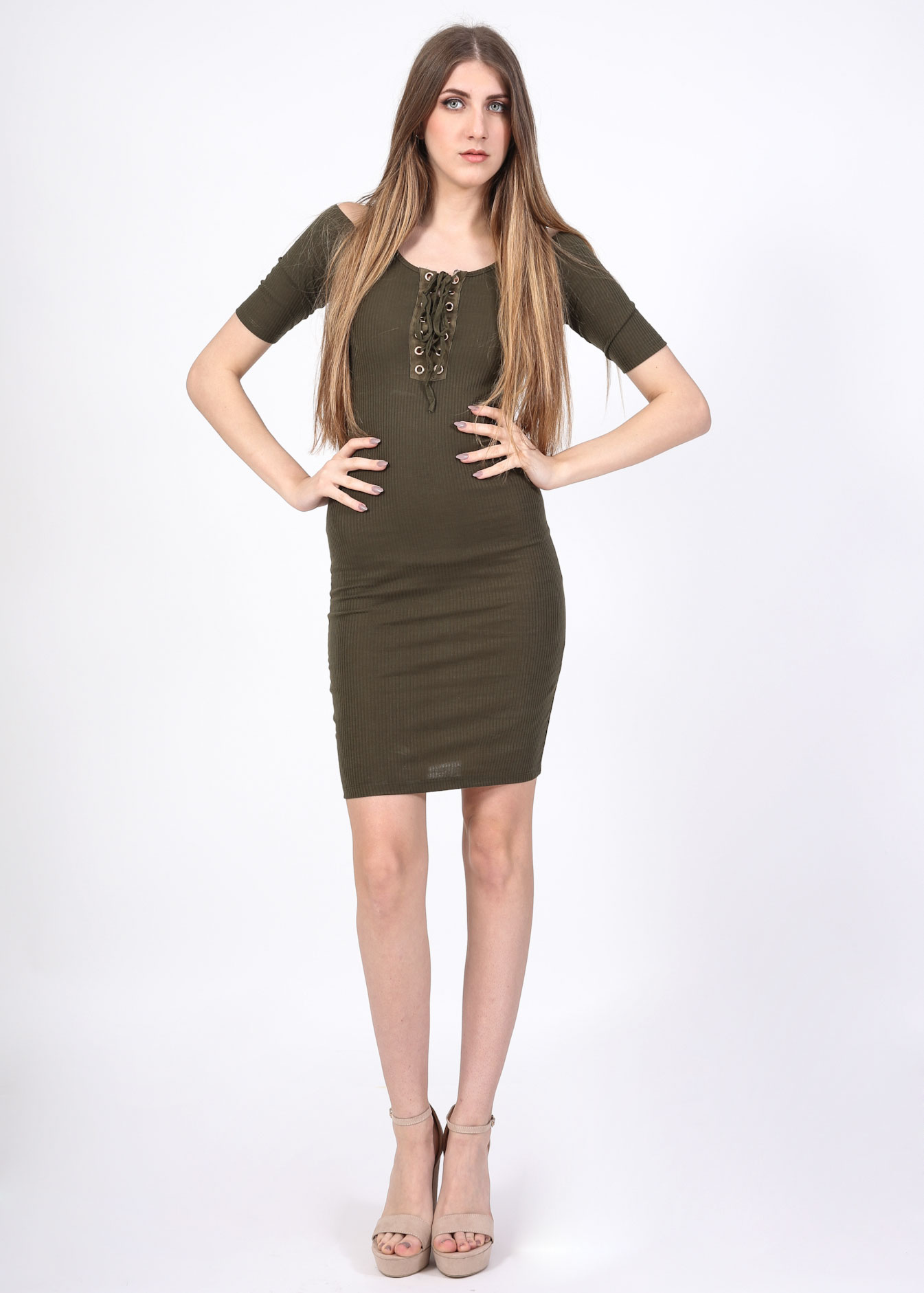 Magnus lace up φόρεμα 09df5c8c96f