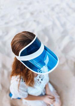 Arte Piedi Didi Γυναικείο Ανοιχτό Καπέλο με Διάφανο Γείσο, Μπλέ