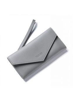 Dash Πορτοφόλι με Εξωτερική Θήκη με Φερμουάρ, Γκρι