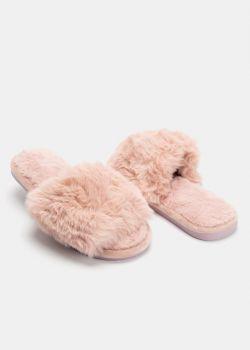 Osten Γούνινες Παντόφλες, Dusty Pink