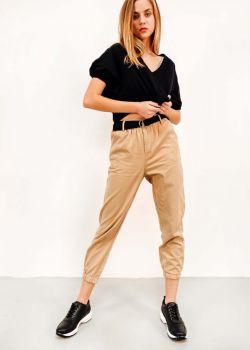 Sophie Παντελόνι Cargo με Ζώνη, Μπεζ