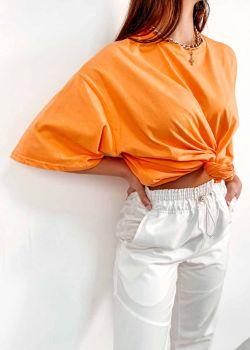 Naya Oversized Μπλουζάκι T-Shirt, Πορτοκαλί