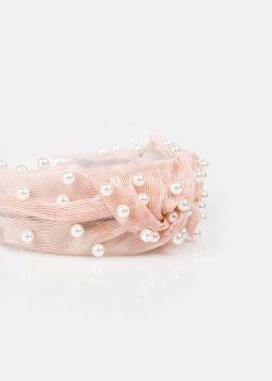 Beauty Στέκα Μαλλιών με Πέρλες, Ροζ