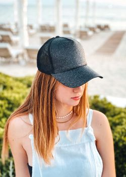 Wendie Καπέλο Τζόκευ Γυαλιστερό, Μαύρο