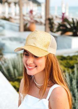 Wendie Καπέλο Τζόκευ Γυαλιστερό, Χρυσό