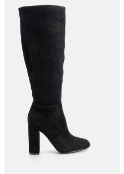 Leone Μπότες Ψηλοτάκουνες Suede, Μαύρο