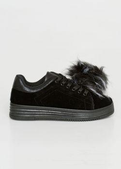 Duffy Γυναικείο Suede Sneaker | Μαύρο