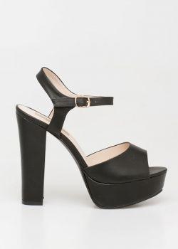 Vanessa high heel sandal, μαύρο