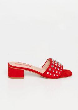 Giana Studded slider | Κόκκινο