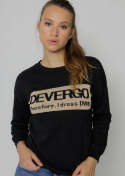 Sosie Devergo Μπλούζα Μακρυμάνικη με Στάμπα, Μαύρο